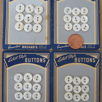 Grandma L's buttons - Sewing