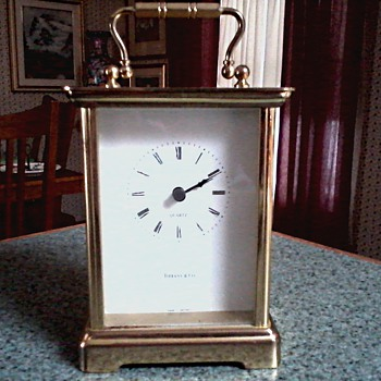 Tiffany and Company Carriage Clock / Hechinger Quartz Movement Made in W. Germany/Unknown Age - Clocks