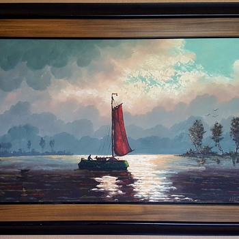 Oil on Canvas Painting by Van der Vect - Fine Art