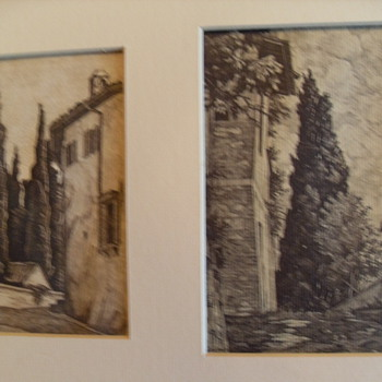 Original 20th Century Italian Etching