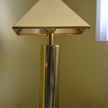 Signed Curtis Jere Brass Lamp Shade and Base? - Lamps