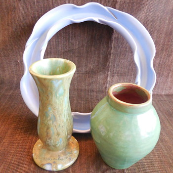 California Pottery Vases - Haldeman Caliente - Monterey Jade - And ???  - Pottery
