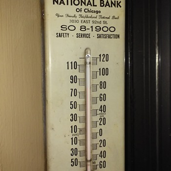 STEEL CITY NAT'L BANK thermometer - Advertising