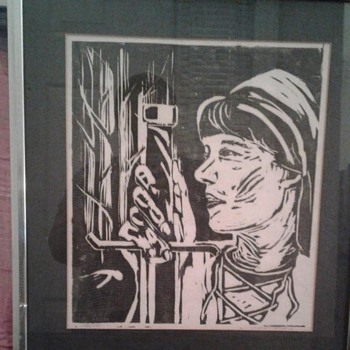 Painting, Print, Black & White, Woman - Posters and Prints