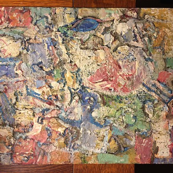 Abstract oil painting unsigned old