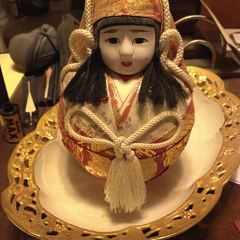 Ostrich Egg Geisha Doll  - Asian