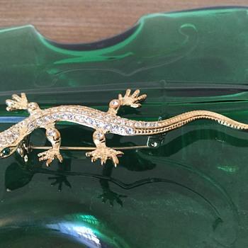 Heading to the thrift...ROMAN lizard - Costume Jewelry