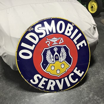 Oldsmobile service sign 4 ft  - Signs
