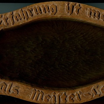 Old German carved wooden  bread tray - Folk Art