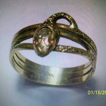 VICTORIAN SNAKE RING...FOUND METAL DETECTING - Costume Jewelry
