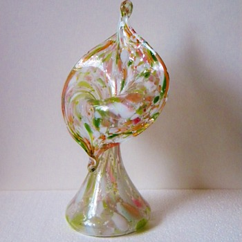 Art Nouveau Kralik Jack In the Pulpit Mica Pink Opalescent Vase  - Art Glass