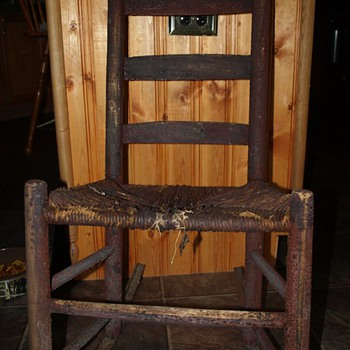 ladder back chair with cast rockers