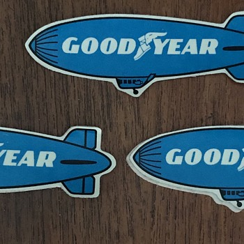Vintage GoodYear tires stickers. - Advertising