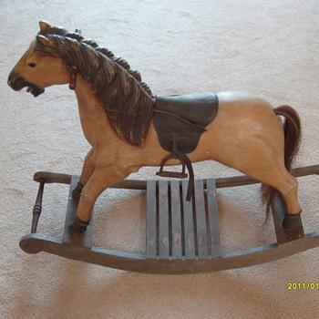 Old Kids Rocking Horse - Animals
