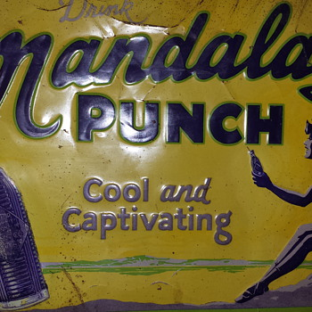Mandalay Punch tin sign; 1928. - Signs