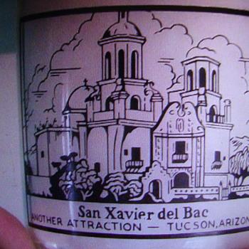 San Xavier del Bac picture on a quart Fairview Dairy bottle...Tucson Arizona - Bottles