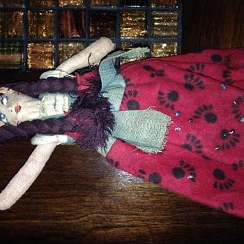 Cloth doll from the New England area