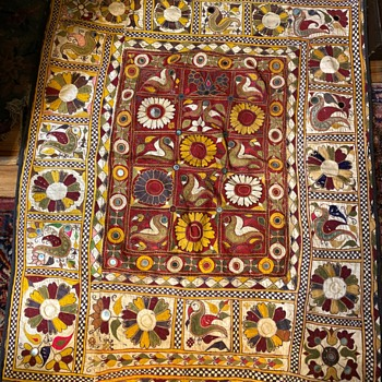 Embroidered Fabric from India - Sussani? - Rugs and Textiles