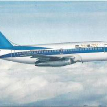 EL AL 737-200 Postcard 1984  - Advertising