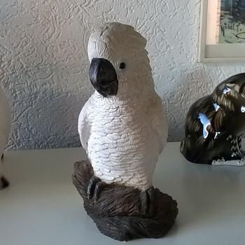 Retired Sandicast Cockatoo 1994 Signed By Sandra Brue - Animals