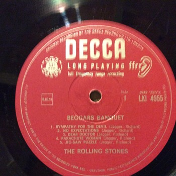 The Rolling Stones Beggars Banquet LKI Mono record - Records