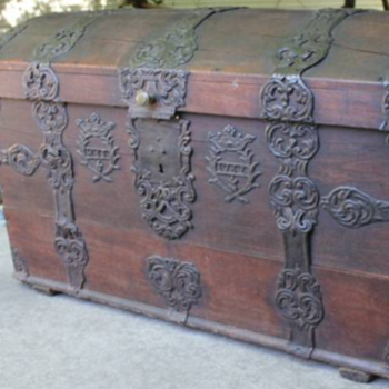 Extremely Rare Cir.1762 Sea Chest-Provenance & Sur Names-All Original! - Furniture