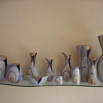 flora vases decor rumba 50s - Pottery