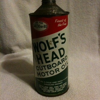 Wolfs Head Oil can