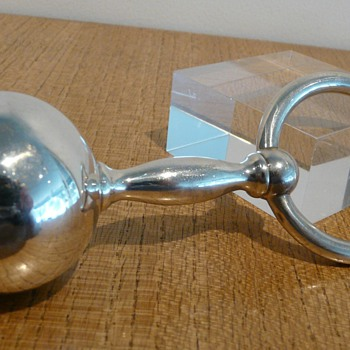 A TIFFANY & CO SILVER RATTLE/TEETHER - Silver