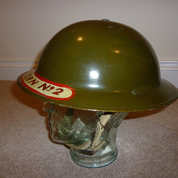 Mint Scottish WWII NFS steel helmet