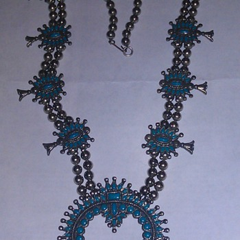 Squash Blossom Turquoise Necklace - Fine Jewelry