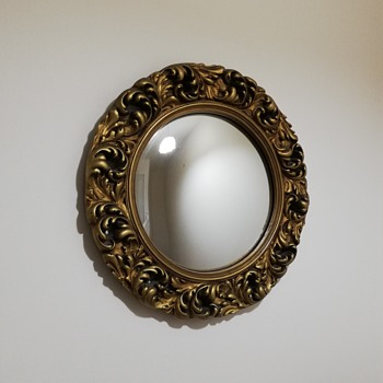 Butler's Convex Mirror with Moulded Plaster Frame - Furniture
