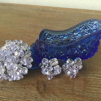 KRAMER ALEXANDRIA...brooch & earrings - Costume Jewelry