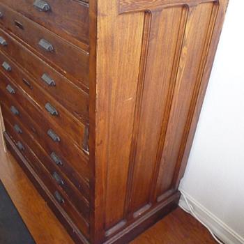 Unusual Hamilton Printers Cabinet - Furniture