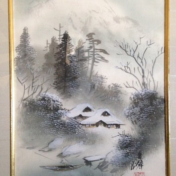 2 Japanese Watercolours on Silk - Fine Art
