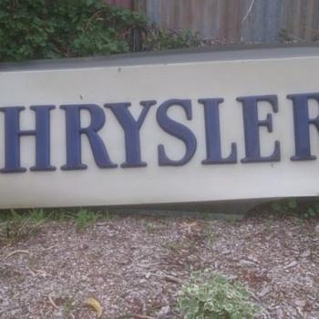 Chrysler Dealership Sign
