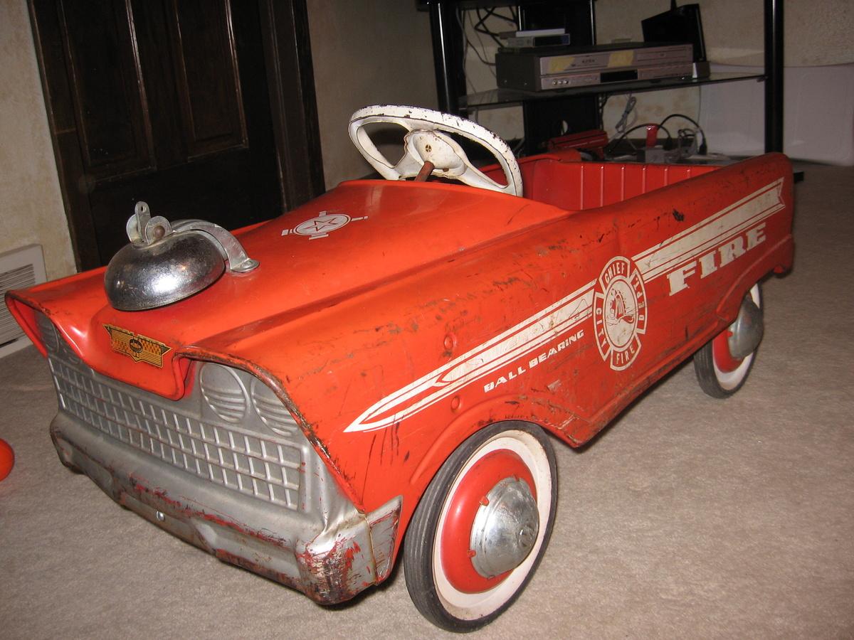 Fire Truck Pedal Car: My Fire Truck Pedal Car (a Cherished Childhood Toy