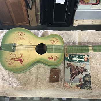 Cowboy western  toy guitar  1950's  - Guitars