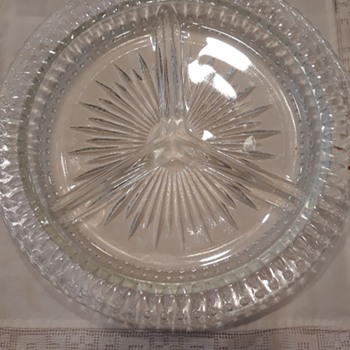 Round Cut Glass Appetizer Serving Bowl - Glassware