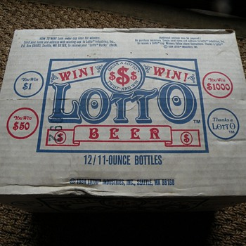 "Unopened 12 Pack of ""Lotto Beer"", from 1984 Seattle, WA"