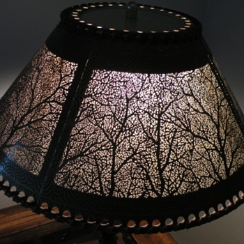 Metal Shade with  Tree Panels - Lamps