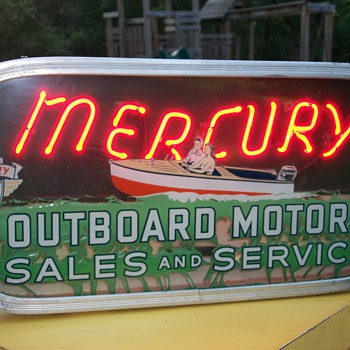 Mercury outboard neon - Signs