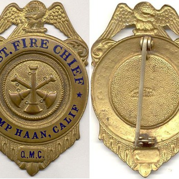 Camp Haan Assistant Fire Chief Badge - Firefighting