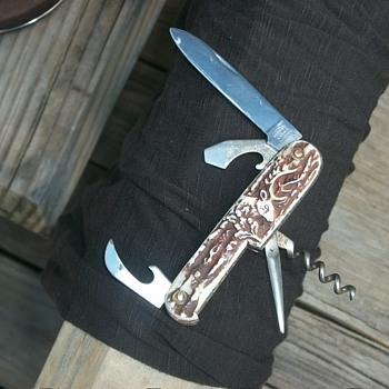 vintage german sportsmans camp knife