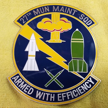27th Munitions Maintenance Squadron - Medals Pins and Badges