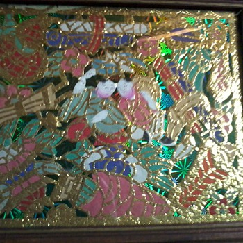 "Antique chinese Gold Leaf Paintings, circa 1899, ""TONG TAI,etc"" Please Help ID!! - Asian"