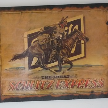 "Vintage Schlitz Beer Memorabilia "" The Great Schlitz Express"" Picture - Signs"