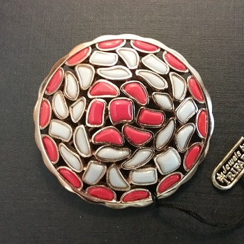 Trifari Modern Mosaics brooch  - Costume Jewelry