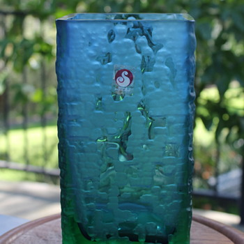 Sasaki textured glass vase - Art Glass