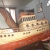 "Old 18"" Tin Jupiter Tugboat"